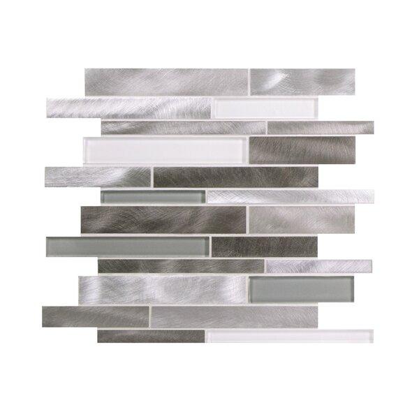 Twilight Random Sized Aluminum/Glass Tile in Gray/White by WS Tiles