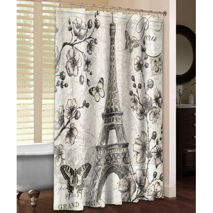 Reviews Paris in Bloom Shower Curtain ByLaural Home