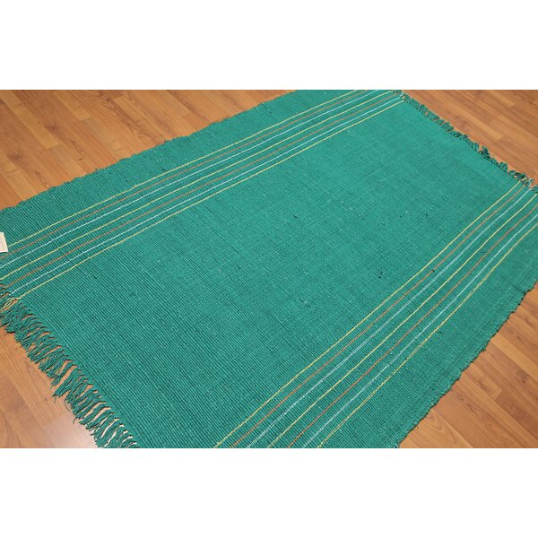 One-of-a-Kind Dilillo Reversible Hand-Woven Blue Area Rug by Highland Dunes