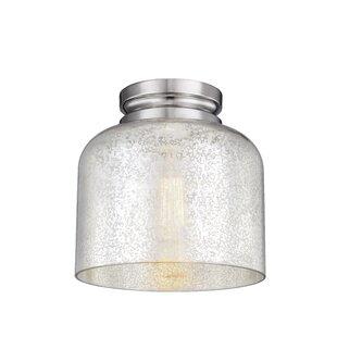 Deals Nolan 1-Light Glass Shade Flush Mount By Gracie Oaks