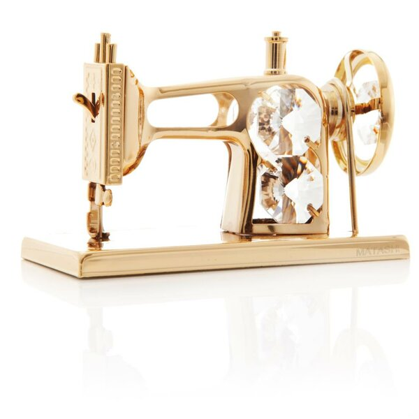 Sewing Machine Ornament by Matashi Crystal