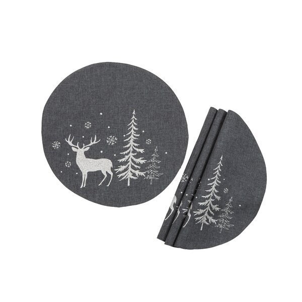 Xan Deer 16 Placemat (Set of 4) by The Holiday Aisle