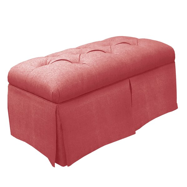 Tufted Fabric Storage Bench by Skyline Furniture
