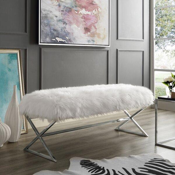 Evonne X-Leg Upholstered Bench by Mercer41