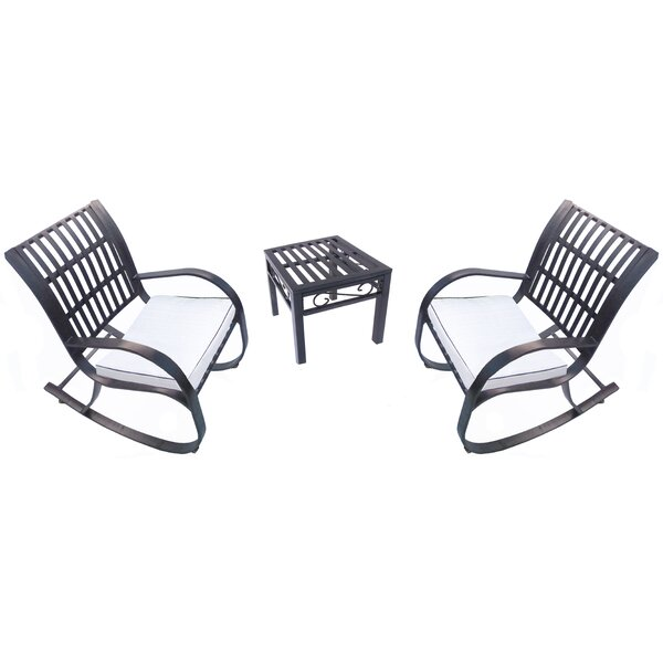 Pabai 3 Piece Dining Set with Cushions by Winston Porter