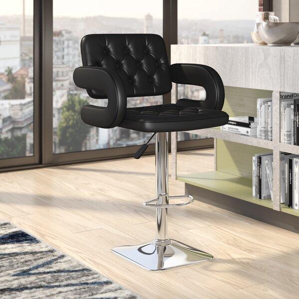 Epperson Adjustable Height Swivel Bar Stool by Brayden Studio