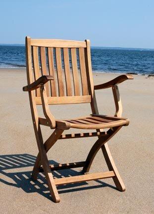 Bullock Folding Teak Patio Dining Chair (Set of 2) by Highland Dunes
