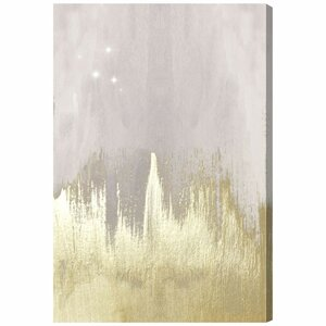 'Offwhite Starry Night' Painting Print on Wrapped Canvas by Willa Arlo Interiors