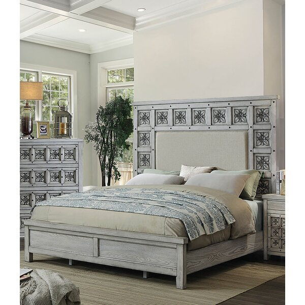 Cali Upholstered Panel Bed by Rosdorf Park