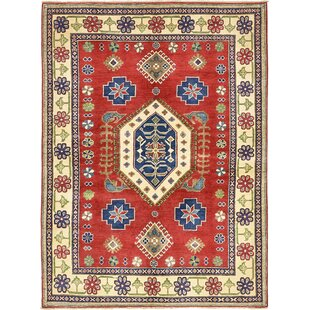 Read Reviews One-of-a-Kind Alayna Hand-Knotted 5'7 x 7'9 Wool Beige/Red Area Rug By Isabelline