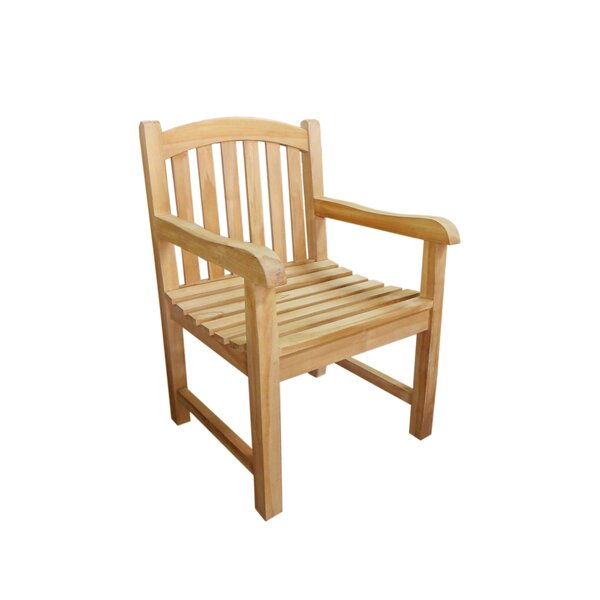Gann Teak Patio Chair by Canora Grey