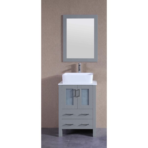 Catherine 24 Single Bathroom Vanity Set with Mirror by Bosconi