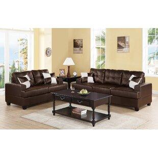 Gedas 2 Piece Faux Living Room Set by Ebern Designs