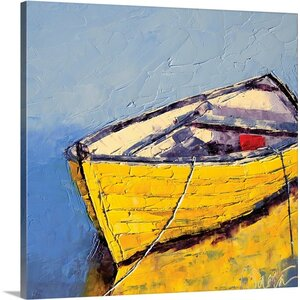 'Sunit Reflections' by Leslie Saeta Painting Print on Wrapped Canvas by Great Big Canvas