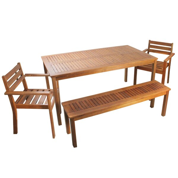 4 Piece Patio Dining Set by Northlight Seasonal