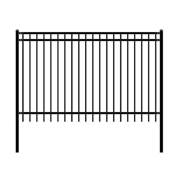 8 ft. W Nice DIY Unassembled Steel Fence Panel (Set of 4) by ALEKO