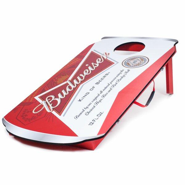 Budweiser Can 10 Piece Bean Bag Toss Game Set by Trademark Global