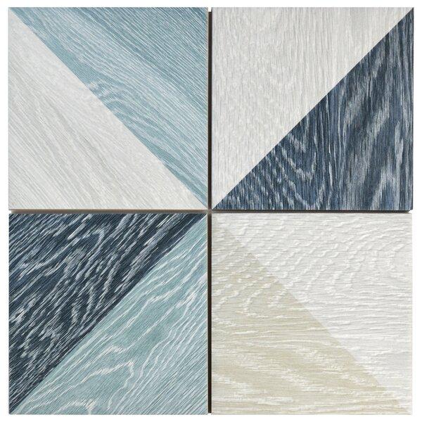 Bon Melange 6.5 x 6.5 Porcelain Field Tile in Blue by EliteTile