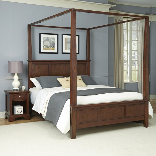 Borden Canopy 2 Piece Bedroom Set by Three Posts