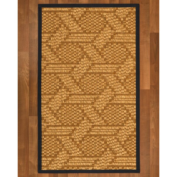 Aalin Hand Woven Brown Blue Area Rug by Bayou Breeze