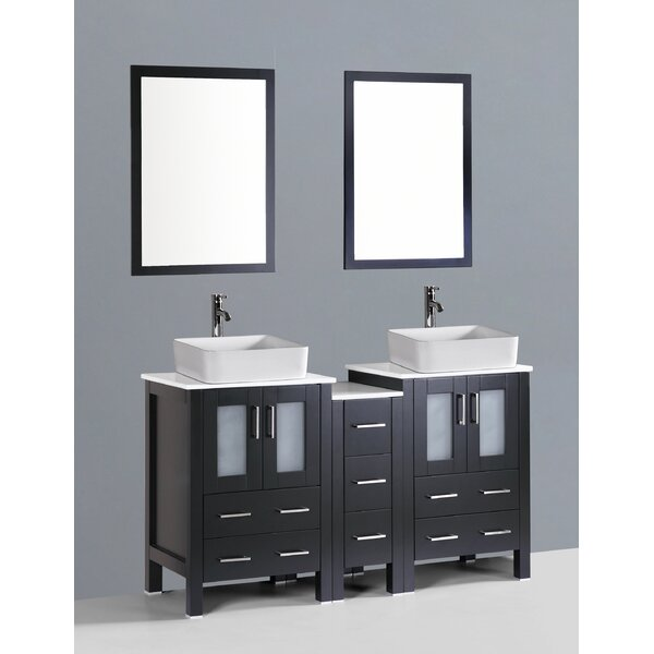 Netto 60 Double Bathroom Vanity Set with Mirror by Ebern Designs