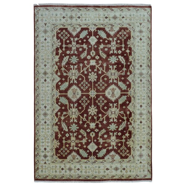 One-of-a-Kind Cozine Oushak Oriental Hand-Woven Wool Red/Beige Area Rug by Isabelline