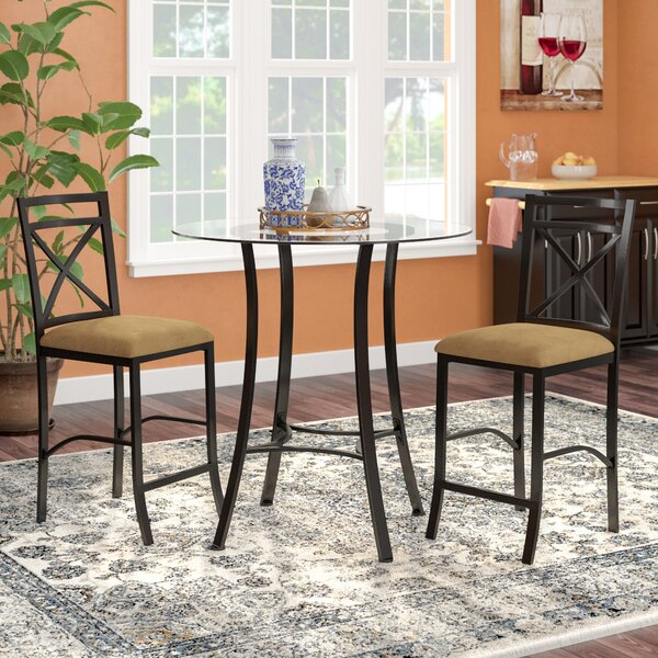 Saleh 3 Piece Dining Set (Set of 3) by Winston Porter