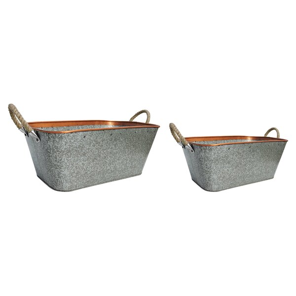 2-Piece Iron Pot Planter Set by BIDKhome
