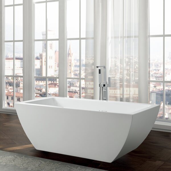 Livorno 59 x 30 Freestanding Soaking Bathtub by Bellaterra Home