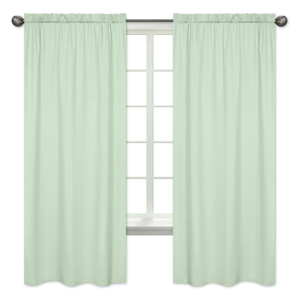 Mod Arrow Solid Semi-Sheer Rod Pocket Curtain Panels (Set of 2) by Sweet Jojo Designs