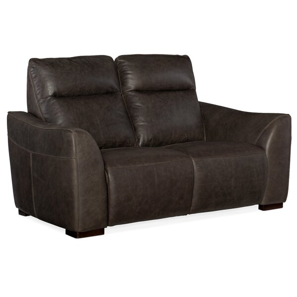 Athena Leather Reclining Loveseat By Hooker Furniture