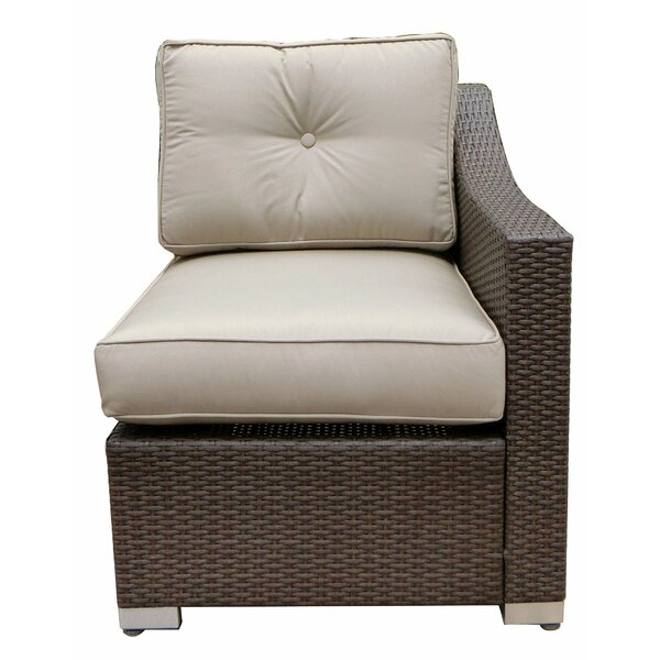 Tampa Left Arm Single Chair with Cushion by World Wide Wicker