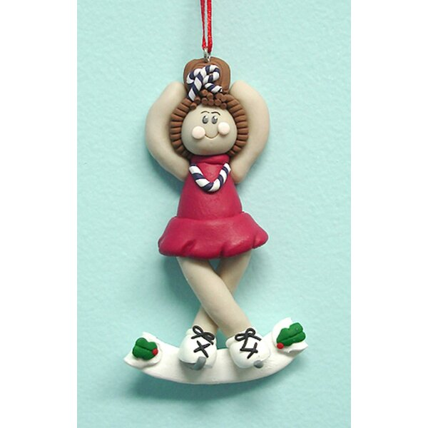 Female Ice Figure Skater Christmas Hanging Figurine by The Holiday Aisle