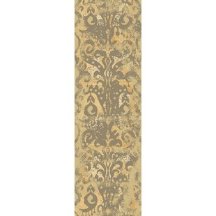 Beqal Hand-Knotted Wool Khaki/Tan Area Rug by Bloomsbury Market