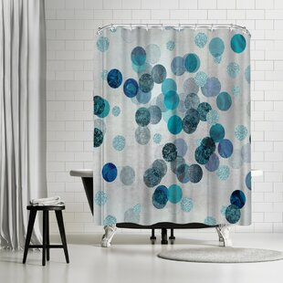 Lebens Art Shimmering Dots Shower Curtain