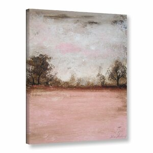 'Pink Landscape II' Watercolor Painting Print on Canvas by Zipcode Design