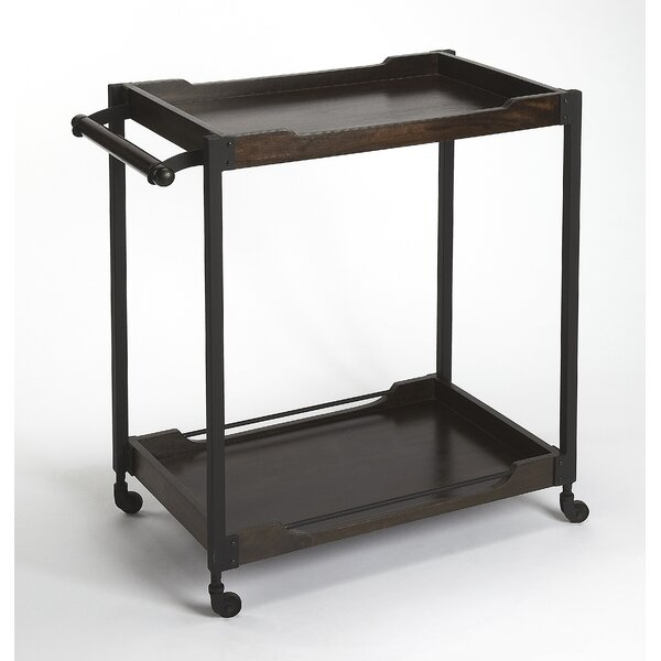 Tankersley Wood and Metal Bar Cart by Williston Forge