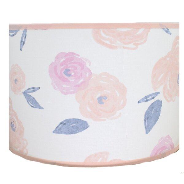 Lilly Cotton Drum Lamp Shade ( Spider ) in Pink/Orange/Blue