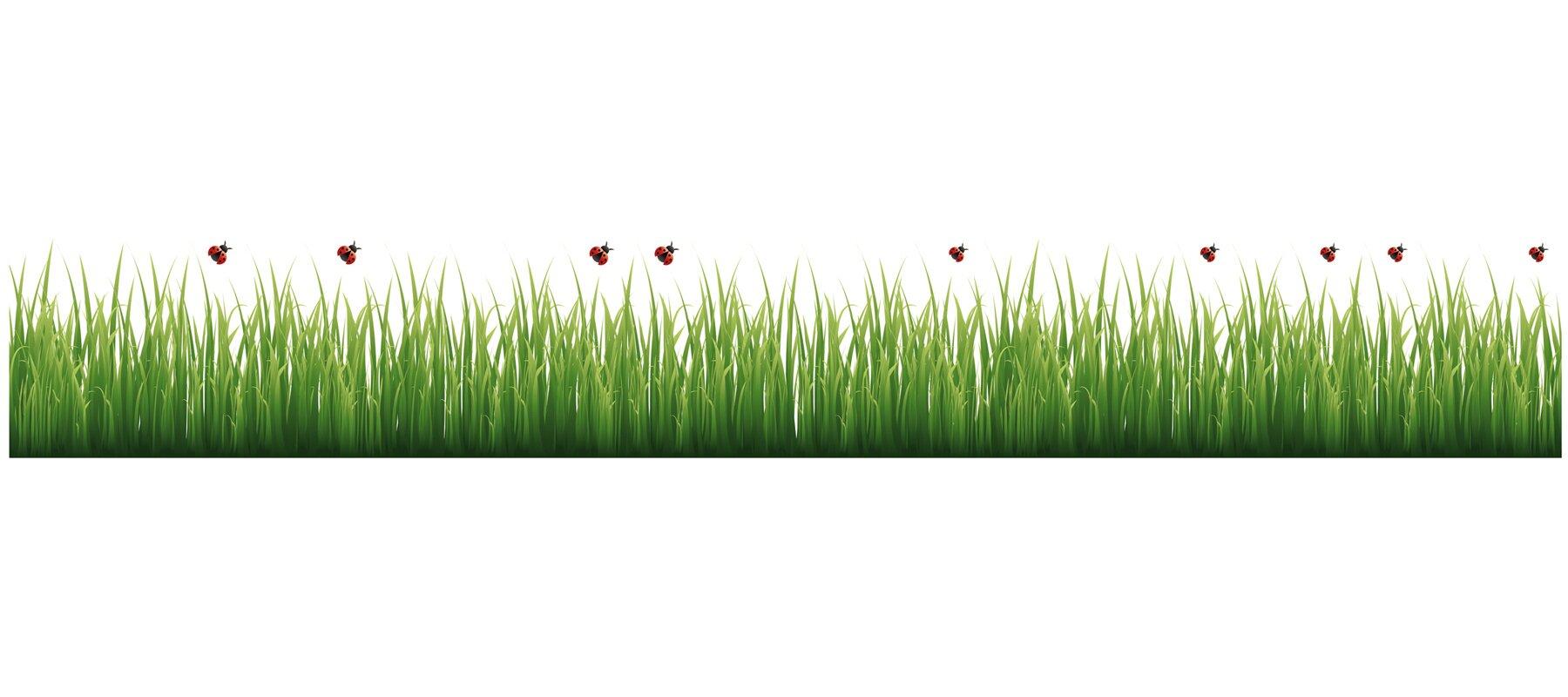 WallPops Grass And Ladybugs Border Wall Decal Reviews Wayfair - Wall decals grass