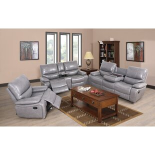 Jossi PU 3 Piece Reclining Living Room Set by Latitude Run®