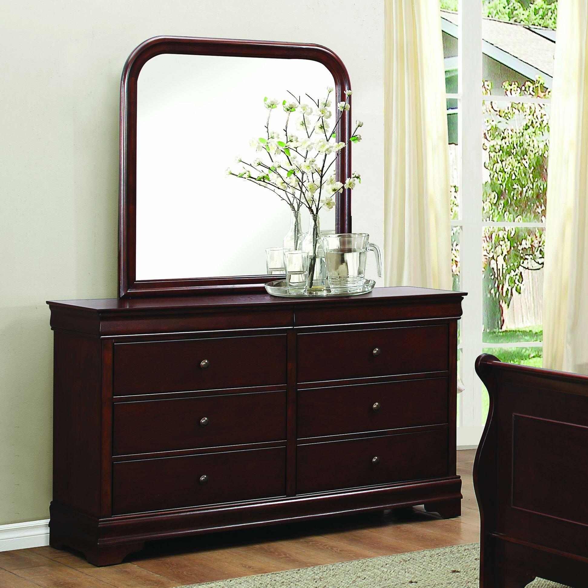 Homelegance Abbeville 6 Drawer Dresser With Mirror U0026 Reviews | Wayfair