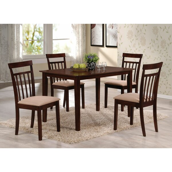Paille 5 Pieces Dining Set by Charlton Home