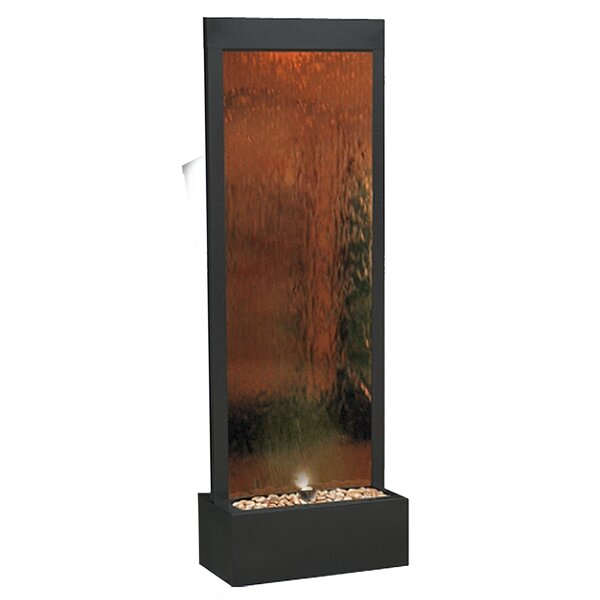 Stainless Steel Mirror Fountain with Light by Woodland Imports