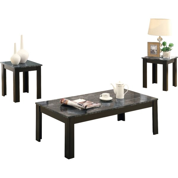 Marauder 3 Piece Coffee Table Set by Red Barrel Studio Red Barrel Studio