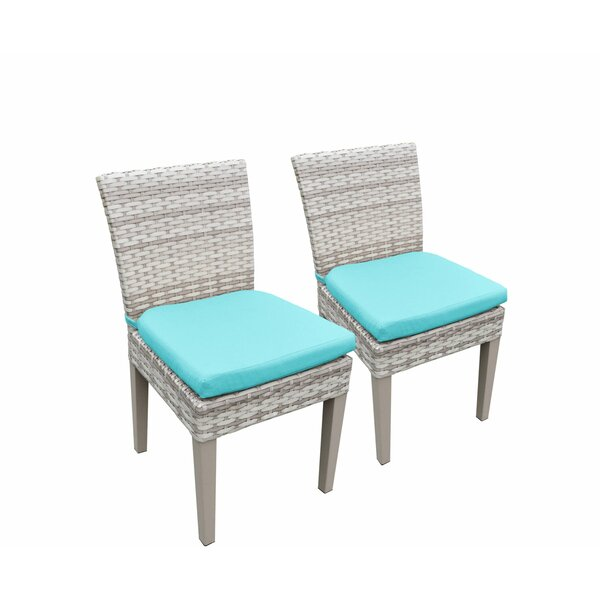 Ansonia Patio Dining Chair with Cushion (Set of 2) by Rosecliff Heights