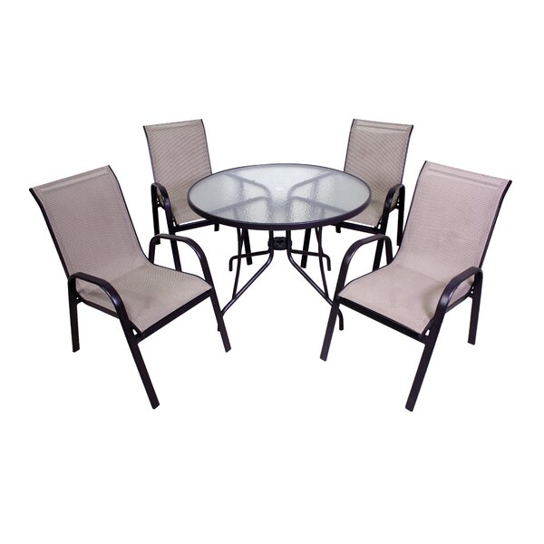 Ashkum 5 Piece Dining Set by Red Barrel Studio