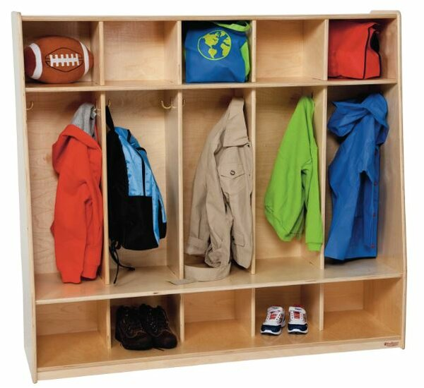 Healthy Kids 3 Tier 5 Wide Coat Locker by Wood Designs