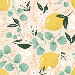 Lovely Lemons Removable 5 X 20 Floral Wallpaper