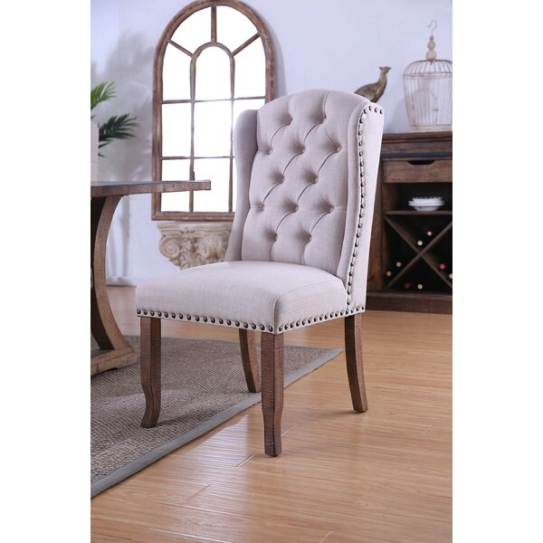 Coshocton Wingback Upholstered Dining Chair (Set of 2) by Gracie Oaks