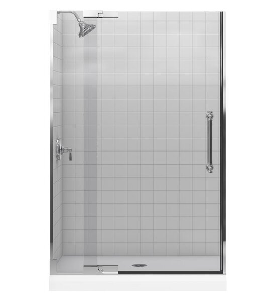Pinstripe 47.75 x 72.25 Pivot Shower Door by Kohler
